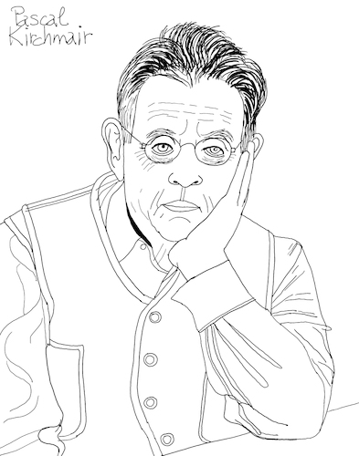 Cartoon: Philip Glass II (medium) by Pascal Kirchmair tagged philip,glass,illustration,drawing,zeichnung,pascal,kirchmair,cartoon,caricature,karikatur,ilustracion,dibujo,desenho,ink,disegno,ilustracao,illustrazione,illustratie,dessin,de,presse,du,jour,art,of,the,day,tekening,teckning,cartum,vineta,comica,vignetta,caricatura,portrait,retrato,ritratto,portret,kunst,minimal,music,baltimore,maryland,composer,musician,musik,musiker,komponist,usa,porträt,philip,glass,illustration,drawing,zeichnung,pascal,kirchmair,cartoon,caricature,karikatur,ilustracion,dibujo,desenho,ink,disegno,ilustracao,illustrazione,illustratie,dessin,de,presse,du,jour,art,of,the,day,tekening,teckning,cartum,vineta,comica,vignetta,caricatura,portrait,retrato,ritratto,portret,kunst,minimal,music,baltimore,maryland,composer,musician,musik,musiker,komponist,usa,porträt