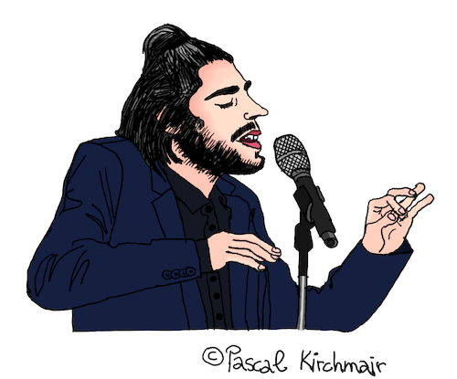 Cartoon: Salvador Sobral (medium) by Pascal Kirchmair tagged esc,salvador,sobral,amar,pelos,dois,cartoon,caricature,karikatur,desenho,illustration,eurovision,song,contest,portugal,dibujo,dessin,zeichnung,drawing,esc,salvador,sobral,amar,pelos,dois,cartoon,caricature,karikatur,desenho,illustration,eurovision,song,contest,portugal,dibujo,dessin,zeichnung,drawing