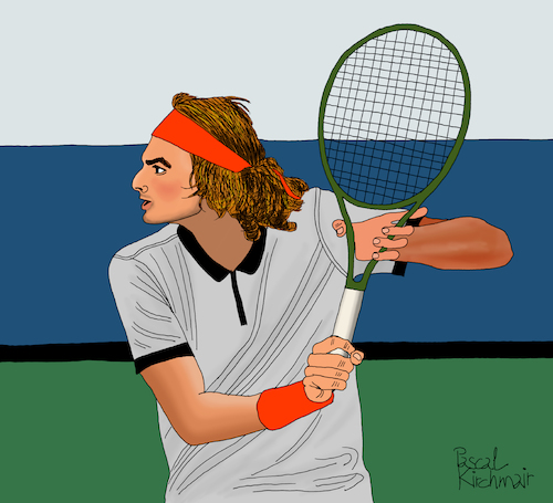 Cartoon: Stefanos Tsitsipas (medium) by Pascal Kirchmair tagged stefanos,tsitsipas,geeece,athens,athen,tennis,tenis,player,atp,finals,masters,grand,slam,tournament,chelem,illustration,drawing,zeichnung,pascal,kirchmair,cartoon,caricature,karikatur,ilustracion,dibujo,desenho,ink,disegno,ilustracao,illustrazione,illustratie,dessin,de,presse,du,jour,art,of,the,day,tekening,teckning,cartum,vineta,comica,vignetta,caricatura,portrait,porträt,portret,retrato,ritratto,torneo,tournoi,torneio,stefanos,tsitsipas,geeece,athens,athen,tennis,tenis,player,atp,finals,masters,grand,slam,tournament,chelem,illustration,drawing,zeichnung,pascal,kirchmair,cartoon,caricature,karikatur,ilustracion,dibujo,desenho,ink,disegno,ilustracao,illustrazione,illustratie,dessin,de,presse,du,jour,art,of,the,day,tekening,teckning,cartum,vineta,comica,vignetta,caricatura,portrait,porträt,portret,retrato,ritratto,torneo,tournoi,torneio