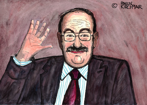 Cartoon: Umberto Eco (medium) by Pascal Kirchmair tagged umberto,eco,portrait,retrato,ritratto,dibujo,drawing,disegno,caricature,illustrazione,karikatur,pascal,kirchmair,cartoon,illustration,watercolour,ink,ilustracion,ilustracao,italia,tekening,portret,cartum,alessandria,milano,umberto,eco,portrait,retrato,ritratto,dibujo,drawing,disegno,caricature,illustrazione,karikatur,pascal,kirchmair,cartoon,illustration,watercolour,ink,ilustracion,ilustracao,italia,tekening,portret,cartum,alessandria,milano