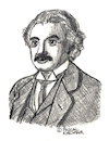Cartoon: Albert Einstein (small) by Pascal Kirchmair tagged albert,einstein,drawing,illustration,portrait,retrato,dibujo,pascal,kirchmair,dessin,portret,tekening,cartum,ink,desenho,ilustracion,ilustracao,ritratto