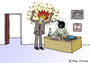 Cartoon: Anger Management (small) by Pascal Kirchmair tagged time bomb tickende zeitbombe bombe retardement anger management aggressionsbewältigung cartoon zorn wut ärger chef arbeit hass caricature karikatur angestellter büro office bureau