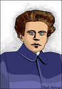 Cartoon: Antonio Gramsci (small) by Pascal Kirchmair tagged antonio,gramsci,portrait,retrato,ritratto,italia,disegno,dibujo,dessin,karikatur,caricature,cartoon,schriftsteller,zeichnung,drawing,desenho,politician,politics,journalist,marxism,communism,kommunismus,philosoph