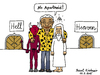 Cartoon: Apartheid (small) by Pascal Kirchmair tagged nelson,mandela,cartoon,caricature,karikatur,reconciliation,apartheid,heaven,hell,diavolo,teufel,gott,god,dieu,diable,devil