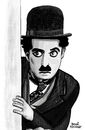 Cartoon: Charlie Chaplin II (small) by Pascal Kirchmair tagged charlie chaplin portrait charlot zeichnung dessin drawing the tramp caricature karikatur cartoon