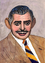 Cartoon: Clark Gable (small) by Pascal Kirchmair tagged clark,gable,portrait,retrato,pascal,kirchmair,desenho,dibujo,drawing,caricature,karikatur,ritratto,zeichnung,dessin,disegno,illustration,ilustracion,illustrazione,ilustracao,illustratie,tekening,teckning,ritning,cartoon,cartum,portret,usa,hollywood,ohio,la,los,angeles,celebrity,actor,star