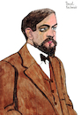 Cartoon: Claude Debussy (small) by Pascal Kirchmair tagged claude,debussy,portrait,retrato,ritratto,drawing,dibujo,desenho,disegno,cartoon,caricature,karikatur,pascal,kirchmair,dessin,composer,france,komponist,paris,zeichnung,tekening,cartum,portret,teckning,ritning,impressionismus,impressionism,in,music,impressionist,romantik,moderne