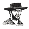 Cartoon: Clint Eastwood (small) by Pascal Kirchmair tagged clint,eastwood,portrait,retrato,ritratto,for,few,dollars,more,caricature,karikatur,illustration,cartoon,vignetta,dibujo,desenho,disegno,dessin,zeichnung,italowestern,cowboy,sergio,leone,hängt,ihn,höher,für,eine,handvoll,dollar,per,un,pugno,di,dollari,enni