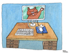 Cartoon: Cyber-attack (small) by Pascal Kirchmair tagged raton katze cat maus cyber attack mouse computer ordinateur war cartoon caricature karikatur