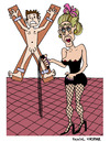 Cartoon: Domina (small) by Pascal Kirchmair tagged mistress domina sex peitsche bdsm dominatrix herrin maitresse sado maso studio