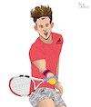 Cartoon: Dominic Thiem (small) by Pascal Kirchmair tagged tennis,player,tenis,dominic,thiem,sieger,winner,us,open,new,york,flushing,meadows,champion,austria,austrian,österreich,österreicher,sport,sports,ink,tusche,tuschezeichnung,portrait,retrato,ritratto,porträt,irish,pub,illustration,drawing,zeichnung,pascal,kirchmair,cartoon,caricature,karikatur,ilustracion,dibujo,desenho,disegno,ilustracao,illustrazione,illustratie,dessin,de,presse,du,jour,art,of,the,day,tekening,teckning,cartum,vineta,comica,vignetta,caricatura,portret