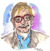 Cartoon: Elton John (small) by Pascal Kirchmair tagged elton john cartoon caricature karikatur portrait zeichnung dessin dibujo desenho disegno illustration sänger singer chanteur pop music musik sacrifice candle in the wind do not go breaking my heart rock blues boogie komponist pianist composer diana lady d