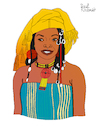 Cartoon: Fatoumata Diawara (small) by Pascal Kirchmair tagged fatoumata,diawara,illustration,drawing,zeichnung,pascal,kirchmair,cartoon,caricature,karikatur,ilustracion,dibujo,desenho,ink,disegno,ilustracao,illustrazione,illustratie,dessin,de,presse,du,jour,art,of,the,day,tekening,teckning,cartum,vineta,comica,vignetta,caricatura,portrait,retrato,ritratto,portret,kunst,singer,songwriter,music,musician,musik,musikerin,mali,ivory,coast,cote,ivoire,elfenbeinküste,porträt,exotic,exotisch,exotik,exotique,exotica,exotico,esotico,esotica,france,frankreich