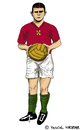 Cartoon: Ferenc Puskas (small) by Pascal Kirchmair tagged fußball,spieler,giocatore,player,calcio,ferenc,puskas,cartoon,karikatur,caricatura,foot,football,soccer,hungary,caricature