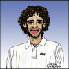 Cartoon: Gustavo Kuerten (small) by Pascal Kirchmair tagged gustavo kuerten guga cartoon caricature karikatur tennis brasilien brasil brazil bresil portrait