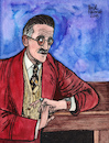 Cartoon: James Joyce (small) by Pascal Kirchmair tagged dublin irland ireland irlanda irlande ulysses dubliners finnegans wake james joyce literatur literature schriftsteller author autor autore auteur writer illustration drawing zeichnung pascal kirchmair cartoon caricature karikatur ilustracion dibujo desenho ink disegno ilustracao illustrazione illustratie dessin de presse du jour art of the day tekening teckning cartum vineta comica vignetta caricatura portrait porträt portret retrato ritratto