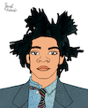 Cartoon: Jean-Michel Basquiat (small) by Pascal Kirchmair tagged jean,michel,basquiat,cartoon,caricature,karikatur,ilustracion,illustration,portrait,retrato,pascal,kirchmair,dibujo,desenho,drawing,zeichnung,ritratto,disegno,ilustracao,illustrazione,illustratie,dessin,du,jour,art,of,the,day,tekening,teckning,cartum,vineta,comica,vignetta,caricatura