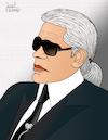 Cartoon: Karl Lagerfeld (small) by Pascal Kirchmair tagged modezar,zar,kaiser,trend,fashion,victim,modelabel,karlikaturen,coco,chanel,fendi,karl,lagerfeld,dibuix,illustration,drawing,zeichnung,pascal,kirchmair,cartoon,caricature,karikatur,ilustracion,dibujo,desenho,ink,disegno,ilustracao,illustrazione,illustratie,dessin,de,presse,du,jour,art,of,the,day,tekening,teckning,cartum,vineta,comica,vignetta,caricatura,portrait,porträt,portret,retrato,ritratto,choupette,karlikatur,kent,kentkragen,spread,collar