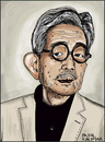 Cartoon: Kenzaburo Oe (small) by Pascal Kirchmair tagged kenzaburo,oe,caricature,portrait,karikatur,cartoon,japan,schriftsteller,scrittore,autor,author,auteur,romancier