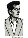 Cartoon: Ludwig Wittgenstein (small) by Pascal Kirchmair tagged ludwig,wittgenstein,caricature,karikatur,cartoon,philosoph,philosopher,austria