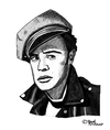 Cartoon: Marlon Brando (small) by Pascal Kirchmair tagged marlon brando karikatur zeichnung drawing dessin caricature portrait cartoon