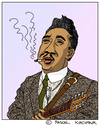 Cartoon: Muddy Waters (small) by Pascal Kirchmair tagged muddy,waters,caricature,karikatur,portrait,retrato,cartoon,mississippi,deer,creek,rolling,fork,blues,music,musik,soul,mckinley,morganfield