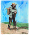 Cartoon: Paul Cezanne (small) by Pascal Kirchmair tagged paul,cezanne,pascal,kirchmair,aquarell,watercolour,dibujo,desenho,disegno,dessin,zeichnung,drawing