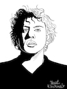 Cartoon: Philip Glass (small) by Pascal Kirchmair tagged philip glass illustration drawing zeichnung pascal kirchmair cartoon caricature karikatur ilustracion dibujo desenho ink disegno ilustracao illustrazione illustratie dessin de presse du jour art of the day tekening teckning cartum vineta comica vignetta caricatura portrait retrato ritratto portret kunst minimal music baltimore maryland composer musician musik musiker komponist usa porträt