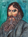Cartoon: Rasputin (small) by Pascal Kirchmair tagged grigori,rasputin,portrait,retrato,catoon,caricature,karikatur,dibujo,desenho,tekening,drawing,zeichnung,disegno,dessin,illustration,ilustracion,ilustracao,cartum,ritratto