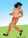 Cartoon: Ruud Gullit (small) by Pascal Kirchmair tagged ruud gullit cartoon caricature karikatur pascal kirchmair dibujo desenho dessin drawing zeichnung humour humor vignetta vineta comica holland olanda holanda netherlands nederlanden fußball soccer foot footbal futebol futbol uefa euro 88 1988 illustration