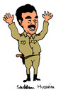 Cartoon: Saddam Hussein (small) by Pascal Kirchmair tagged saddam,hussein,irak,bagdad,diktator,machthaber,iraq,usa,dictator,dictateur