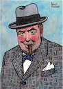 Cartoon: Sir Winston Churchill (small) by Pascal Kirchmair tagged sir winston churchill portrait retrato drawing dibujo desenho zeichnung illustration ilustracion pascal kirchmair ilustracao disegno dessin illustrazione illustratie tekening teckning portret porträt cartoon caricature karikatur cartum
