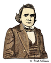 Cartoon: Stephen A. Douglas (small) by Pascal Kirchmair tagged stephen,arnold,douglas,caricature,cartoon,portrait,karikatur,usa,politiker,politician