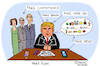 Cartoon: The Fake President (small) by Pascal Kirchmair tagged donald,trump,fake,news,president,caricature,cartoon,karikatur,humor,humour,vignetta,dessin,drawing,dibujo,desenho,disegno,zeichnung,usa,präsident