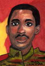 Cartoon: Thomas Sankara (small) by Pascal Kirchmair tagged thomas,sankara,caricature,cartoon,karikatur,dessin,peinture,portrait,aquarell,burkina,faso