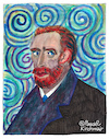 Cartoon: Vincent Willem van Gogh (small) by Pascal Kirchmair tagged vincent willem van gogh portrait retrato drawing dibujo desenho disegno dessin zeichnung caricature karikatur pascal kirchmair watercolour aquarell acuarela aguarela ritratto cartoon illustration ilustracion ilustracao