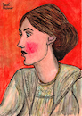 Cartoon: Virginia Woolf (small) by Pascal Kirchmair tagged pascal kirchmair who is afraid wer hat angst vor virginia woolf portrait retrato ritratto drawing dibujo desenho disegno illustration ilustracion ilustracao illustrazione illustratie zeichnung dessin du jour art of the day tekening teckning cartum cartoon vineta comica vignetta caricature caricatura karikatur