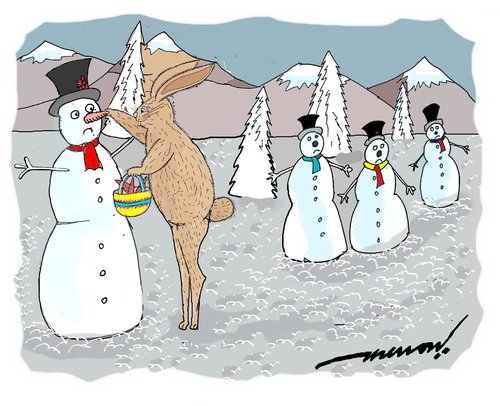 Cartoon: carrot Harvesting (medium) by kar2nist tagged harvest,xmas,bunnt,carrots