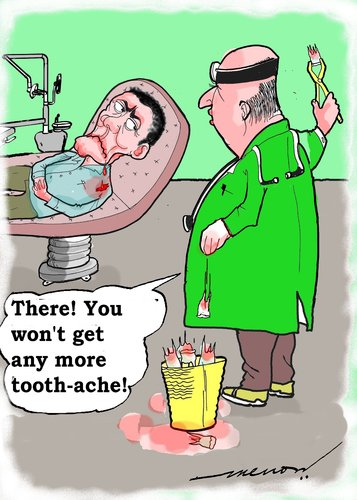 Cartoon: dental solution (medium) by kar2nist tagged dentist,extraction,tooth,ache