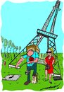 Cartoon: chivalry (small) by kar2nist tagged eiffel,superman,shoes