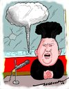 Cartoon: Hairstyle 2016 -KIM (small) by kar2nist tagged kim,north,korea,hydrogen,bomb