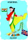Cartoon: Indian Independence Day (small) by kar2nist tagged india,independence,colonial,rule