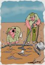 Cartoon: Innovations in Archeology (small) by kar2nist tagged archeology,innovations,vaccum,cleaner,brushes