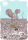 Cartoon: Just for a Drop (small) by kar2nist tagged climate,change,draught,ethiopia,drylands,parched