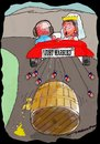 Cartoon: Just married (small) by kar2nist tagged marrige,beer,baron,tin,cans,barrels