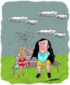 Cartoon: marital bliss (small) by kar2nist tagged marriage,umbrella,wife,husband,bliss,rain