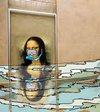 Cartoon: Monaliza in Paris floods (small) by kar2nist tagged monalisa,flooding,paris