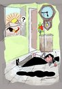Cartoon: Morning Alarm (small) by kar2nist tagged morning,alarm,rooster,snooze,sleep
