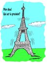 Cartoon: My God  Who is next (small) by kar2nist tagged eiffel,paris,terror,attack,isis