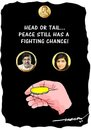 Cartoon: Nobel Prize for Peace 2014 (small) by kar2nist tagged nobel,prize,peace,malala,sathyarthi,india,pakistan